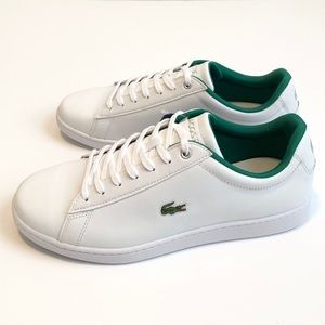 NEW Lacoste Leather Hydez Men White Green Shoes